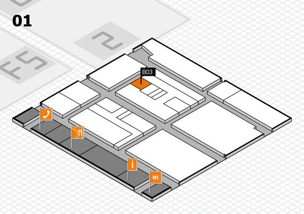 drupa 2016 hall map (Hall 1): stand B03