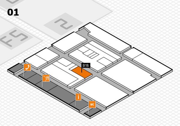 drupa 2016 Hallenplan (Halle 1): Stand B18