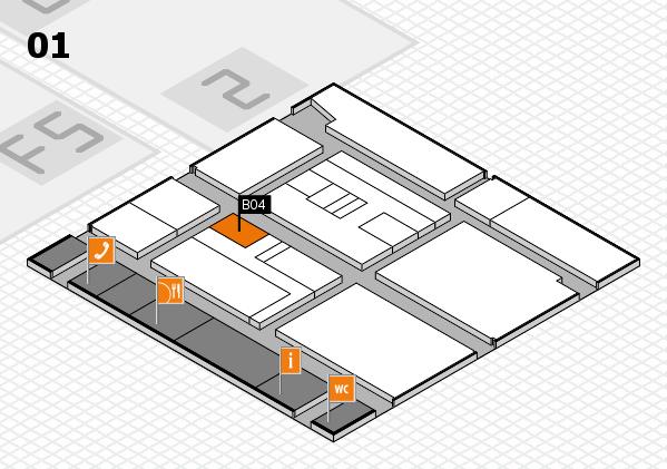 drupa 2016 hall map (Hall 1): stand B04