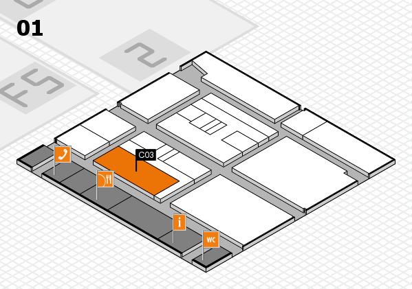 drupa 2016 hall map (Hall 1): stand C03