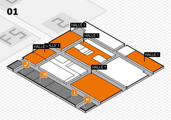drupa 2016 Hallenplan (Halle 1): Stand HALLE 1
