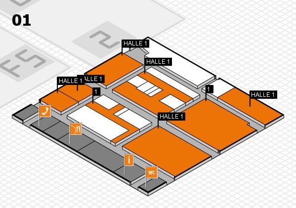 drupa 2016 hall map (Hall 1): stand 1, stand HALLE 1
