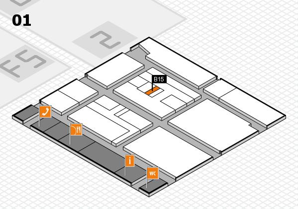 drupa 2016 hall map (Hall 1): stand B15