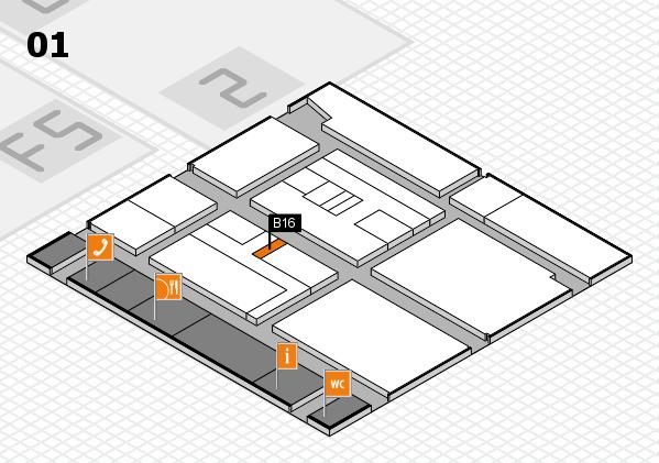 drupa 2016 hall map (Hall 1): stand B16