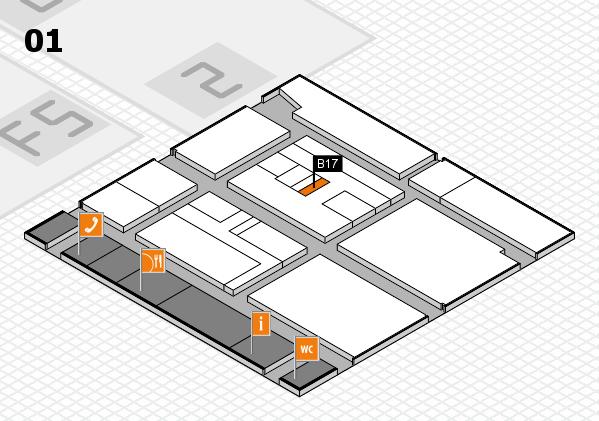 drupa 2016 Hallenplan (Halle 1): Stand B17
