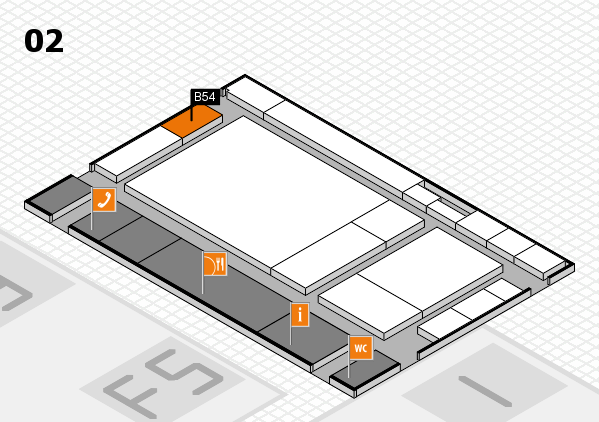 drupa 2016 hall map (Hall 2): stand B54
