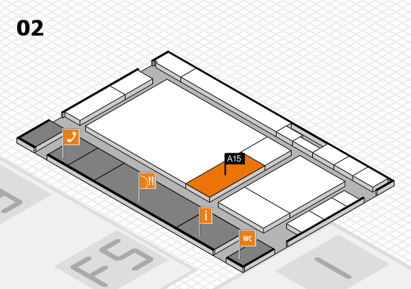 drupa 2016 Hallenplan (Halle 2): Stand A15