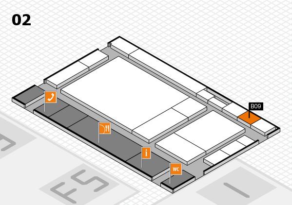drupa 2016 hall map (Hall 2): stand B09
