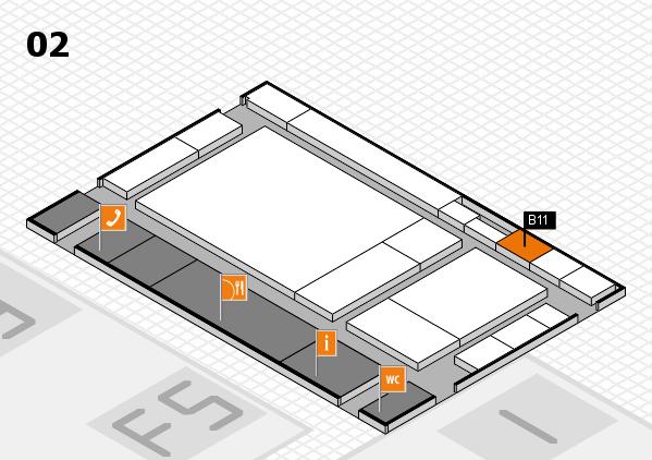 drupa 2016 hall map (Hall 2): stand B11