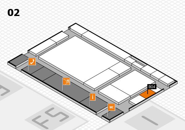 drupa 2016 hall map (Hall 2): stand B04