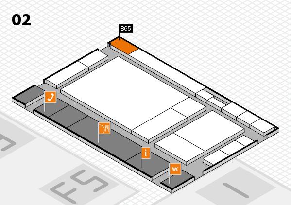 drupa 2016 hall map (Hall 2): stand B65