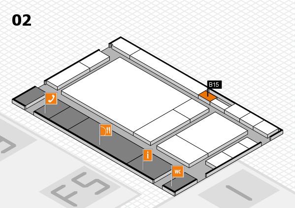 drupa 2016 hall map (Hall 2): stand B15