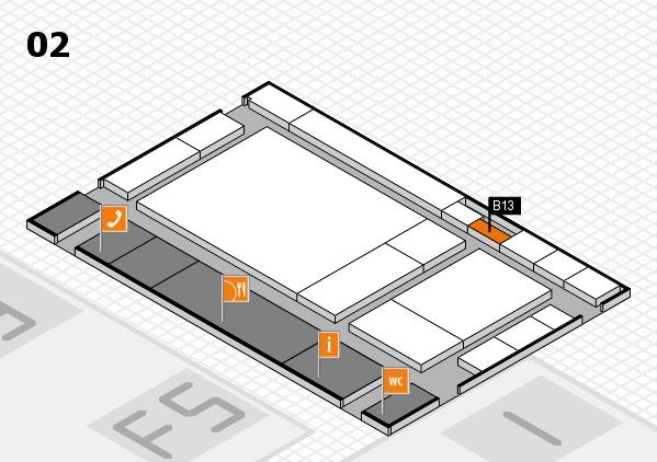 drupa 2016 hall map (Hall 2): stand B13