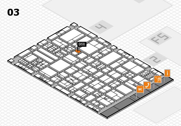 drupa 2016 hall map (Hall 3): stand B68