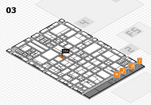 drupa 2016 hall map (Hall 3): stand D54