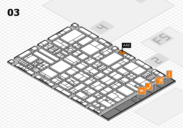 drupa 2016 hall map (Hall 3): stand A49