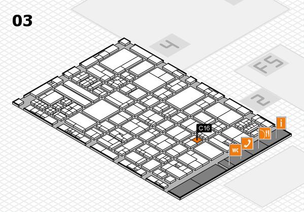 drupa 2016 hall map (Hall 3): stand C16