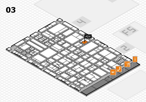 drupa 2016 hall map (Hall 3): stand A54