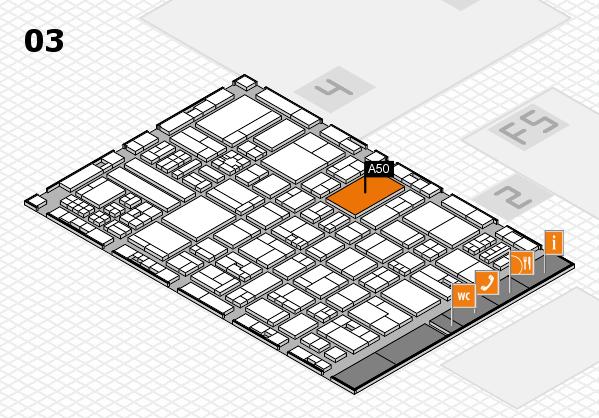 drupa 2016 hall map (Hall 3): stand A50