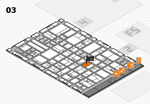drupa 2016 Hallenplan (Halle 3): Stand C32