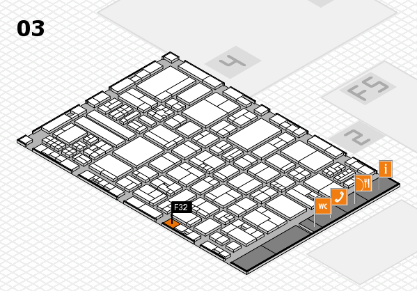 drupa 2016 hall map (Hall 3): stand F32