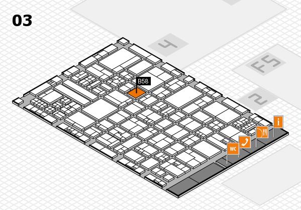 drupa 2016 hall map (Hall 3): stand B58