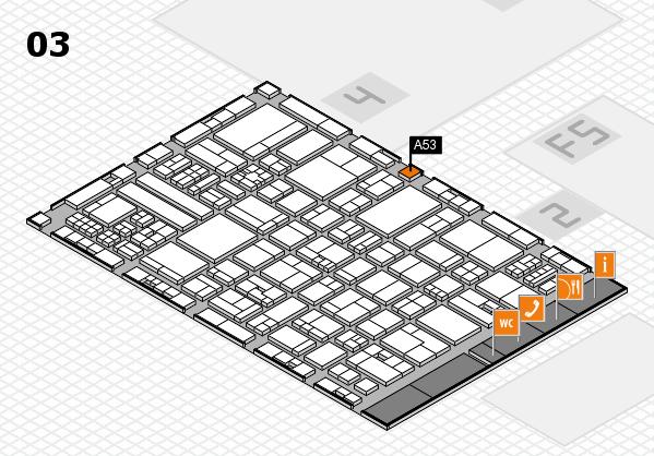 drupa 2016 hall map (Hall 3): stand A53