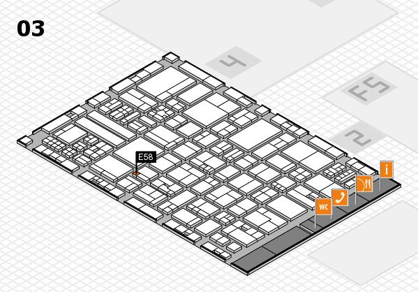 drupa 2016 hall map (Hall 3): stand E58