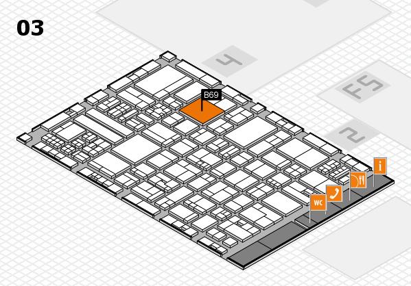 drupa 2016 hall map (Hall 3): stand B69