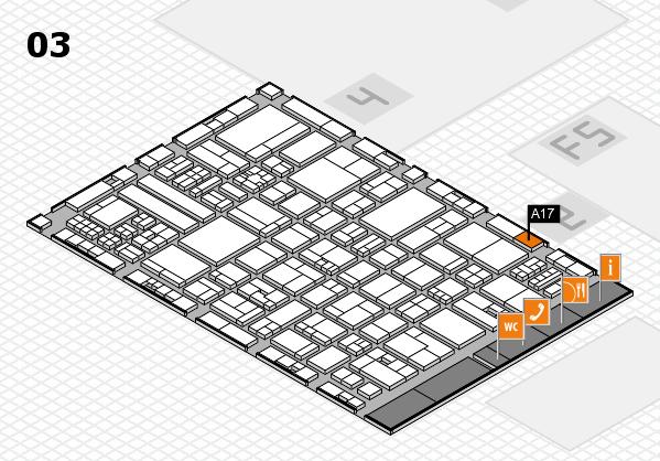 drupa 2016 Hallenplan (Halle 3): Stand A17