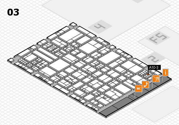 drupa 2016 hall map (Hall 3): stand A10-3