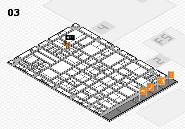 drupa 2016 hall map (Hall 3): stand B74