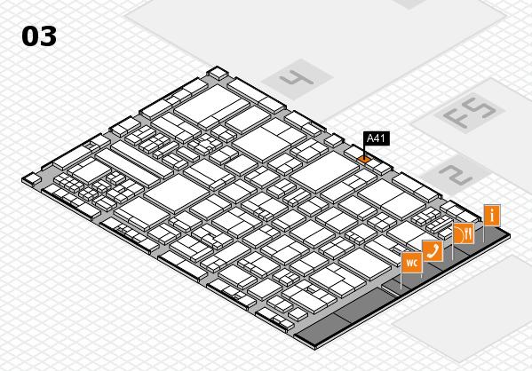 drupa 2016 hall map (Hall 3): stand A41