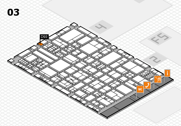 drupa 2016 hall map (Hall 3): stand D93