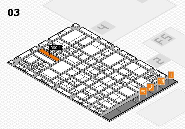drupa 2016 Hallenplan (Halle 3): Stand D90-1