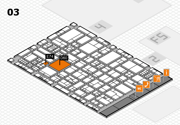 drupa 2016 hall map (Hall 3): stand D60, stand E74