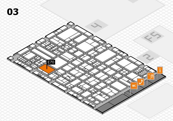 drupa 2016 Hallenplan (Halle 3): Stand E70
