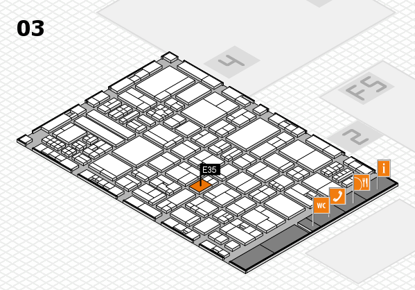 drupa 2016 hall map (Hall 3): stand E35