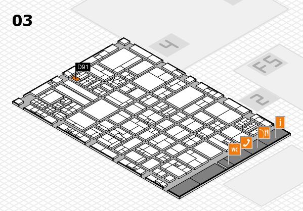 drupa 2016 hall map (Hall 3): stand D91