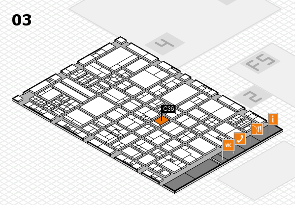 drupa 2016 hall map (Hall 3): stand C36