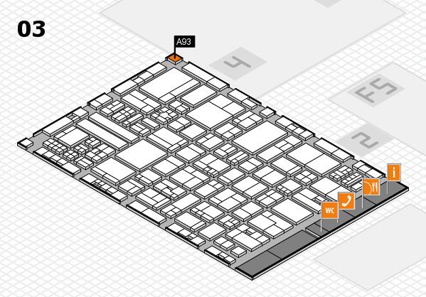 drupa 2016 hall map (Hall 3): stand A93