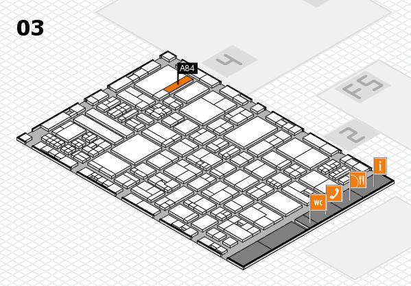 drupa 2016 hall map (Hall 3): stand A84