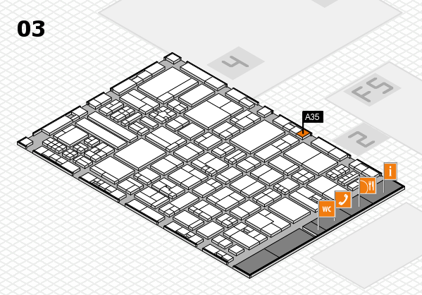 drupa 2016 Hallenplan (Halle 3): Stand A35