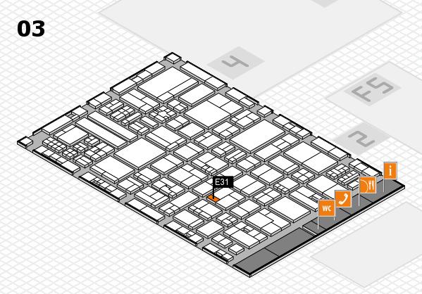 drupa 2016 hall map (Hall 3): stand E31