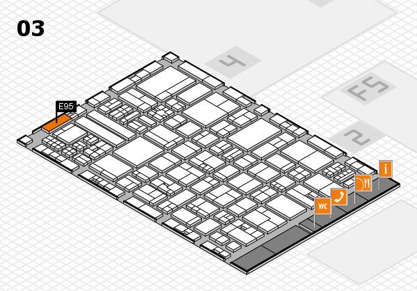drupa 2016 hall map (Hall 3): stand E95