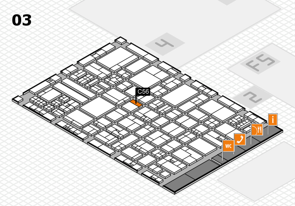 drupa 2016 hall map (Hall 3): stand C56