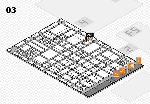 drupa 2016 hall map (Hall 3): stand A58