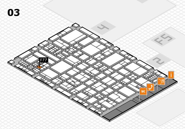 drupa 2016 hall map (Hall 3): stand F77