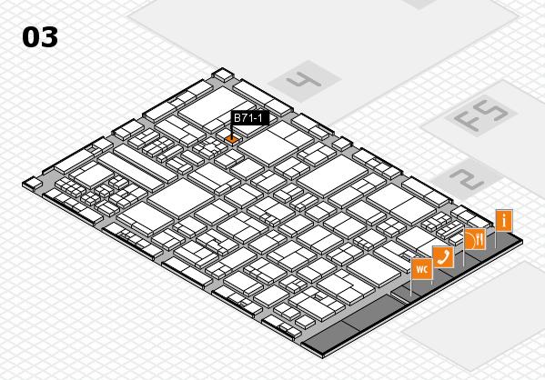 drupa 2016 hall map (Hall 3): stand B71-1