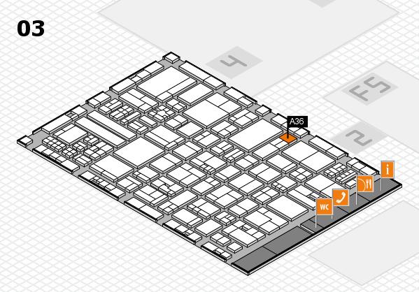 drupa 2016 hall map (Hall 3): stand A36
